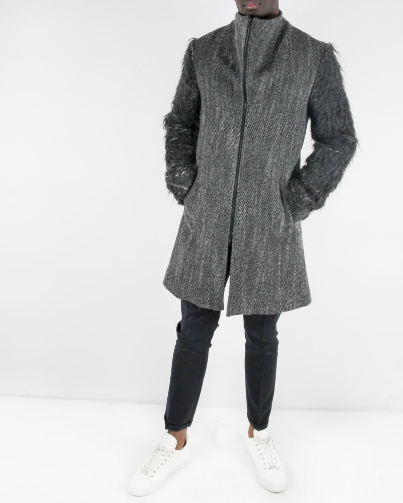 Manteau couture gris Lost & Found