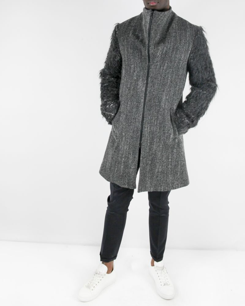 Manteau gris Lost & Found