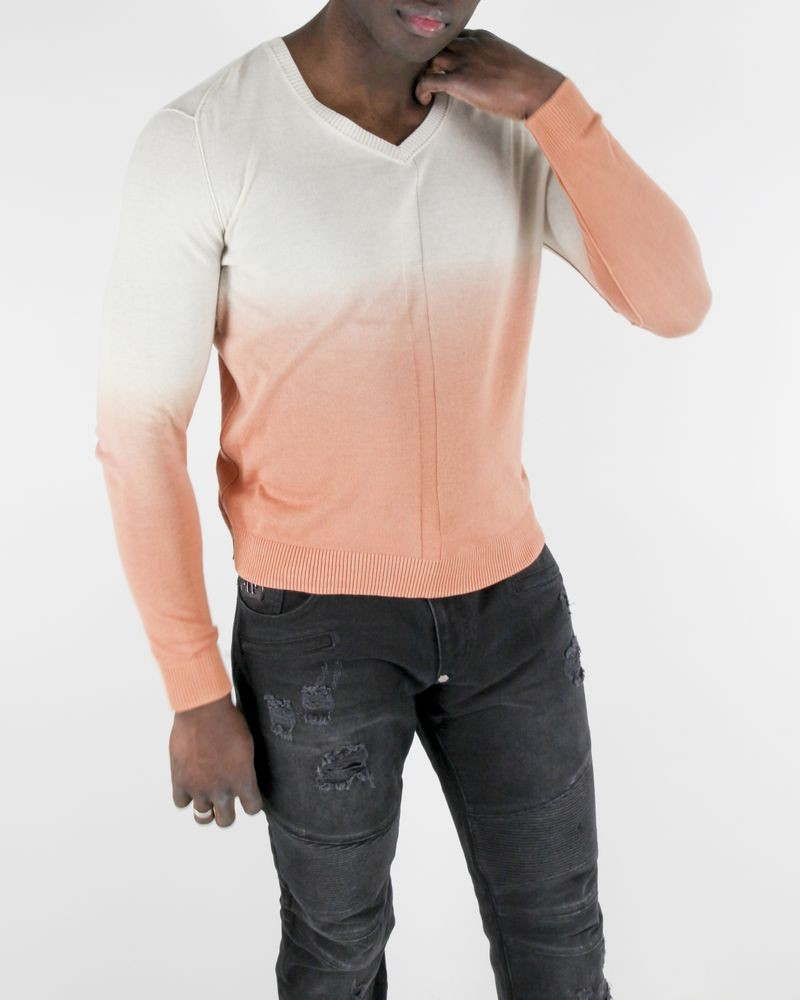 Pull Tie and Dye beige et orange Guess
