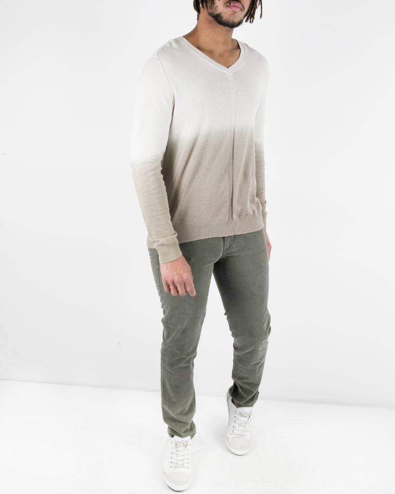 Pantalon regular en coton kaki Re-Hash