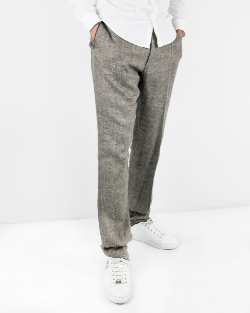 Pantalon à plis grège Lords & Fools