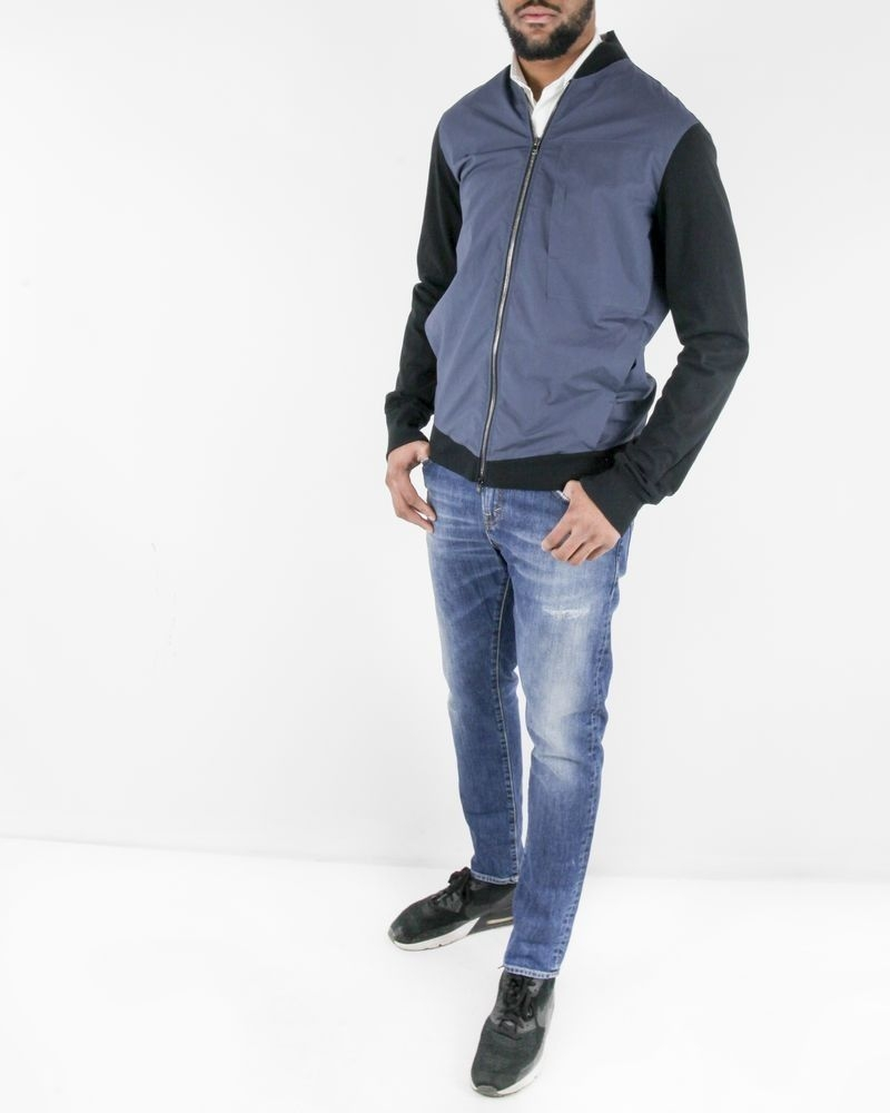 Blouson en coton bleu et noir Lost & Found