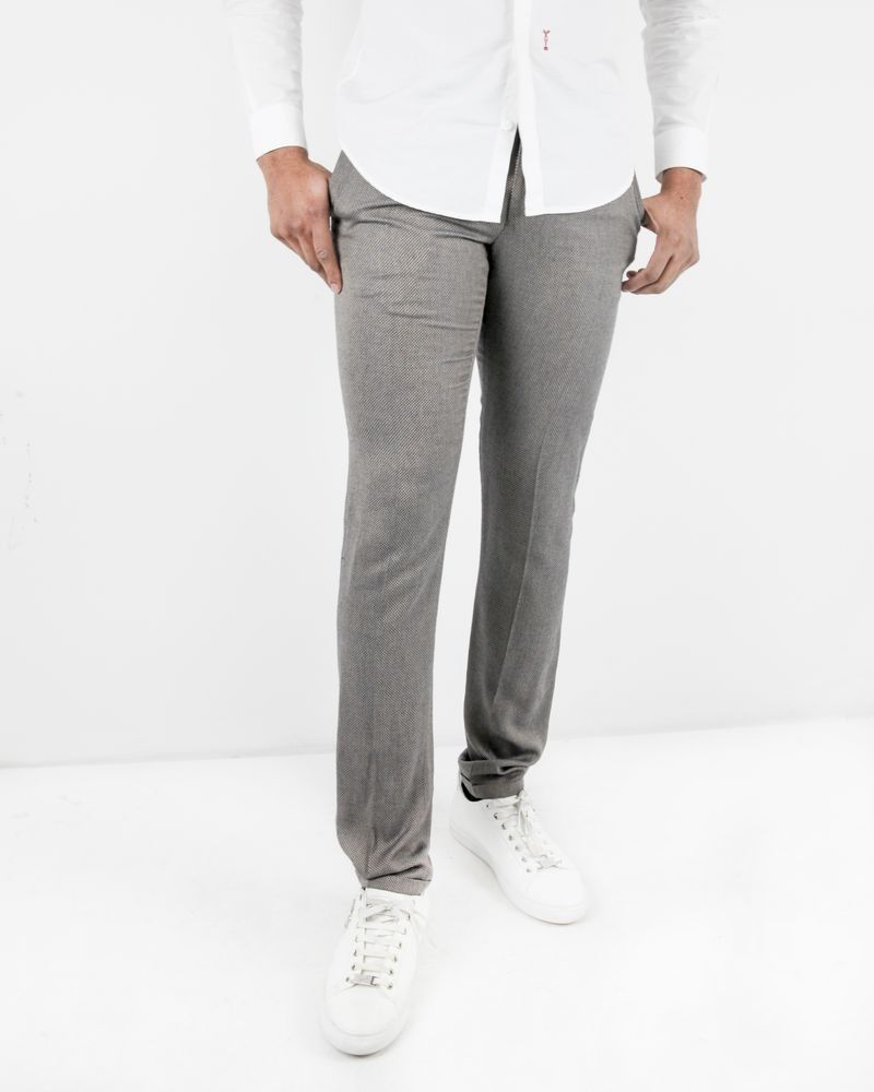 Pantalon beige tailleur à motif fantaisie Lords & Fools