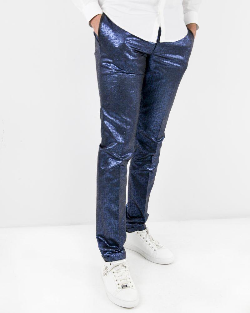 Pantalon tailleur en lurex bleu Lords & Fools