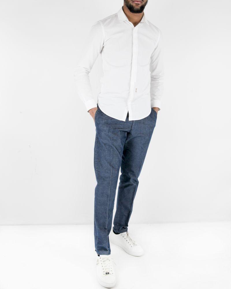 Pantalon bleu tailleur en coton côtelé Lords & Fools
