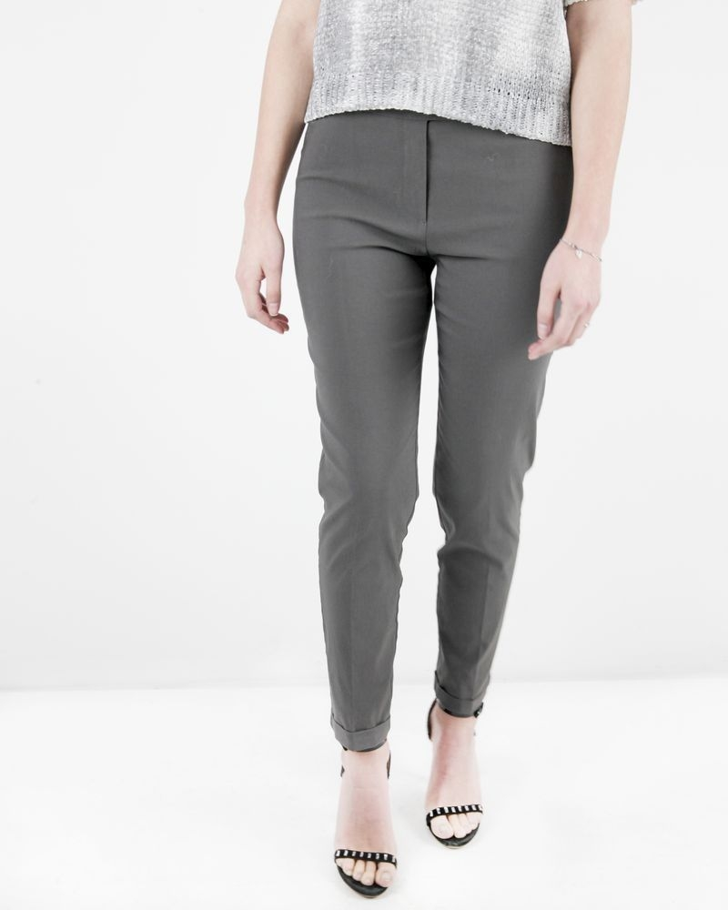 Pantalon skinny en crêpes gris SHE'S SO