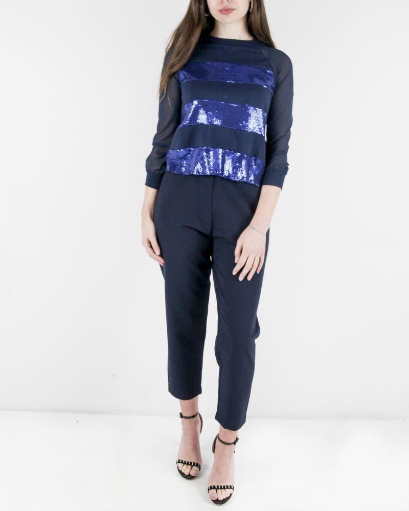 Pantalon bleu Svnty Femme