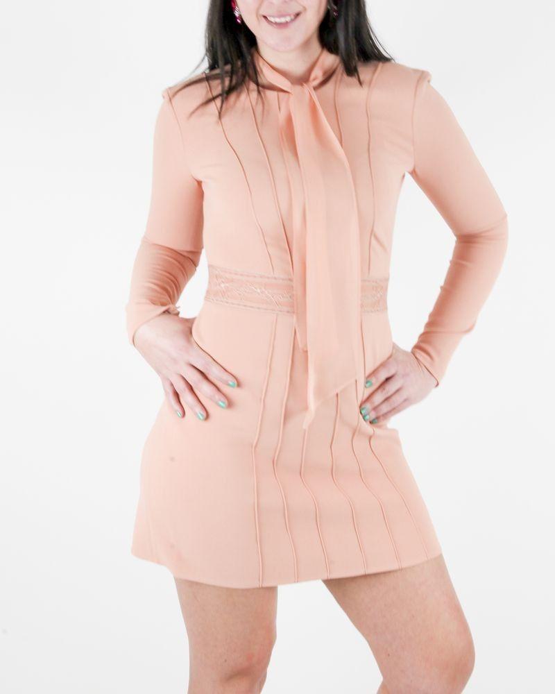 Robe tailleur en crêpe stretch saumon Elisabetta Franchi