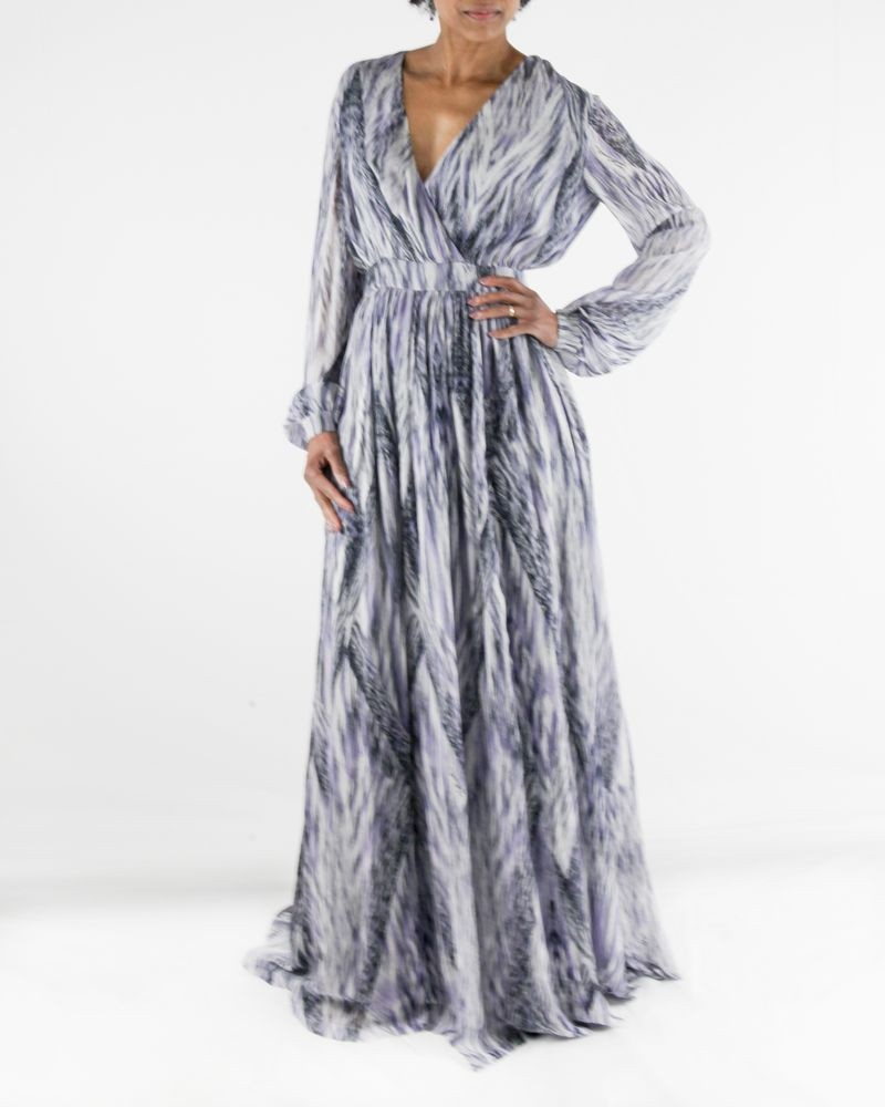 Robe longue empire violette Just Cavalli