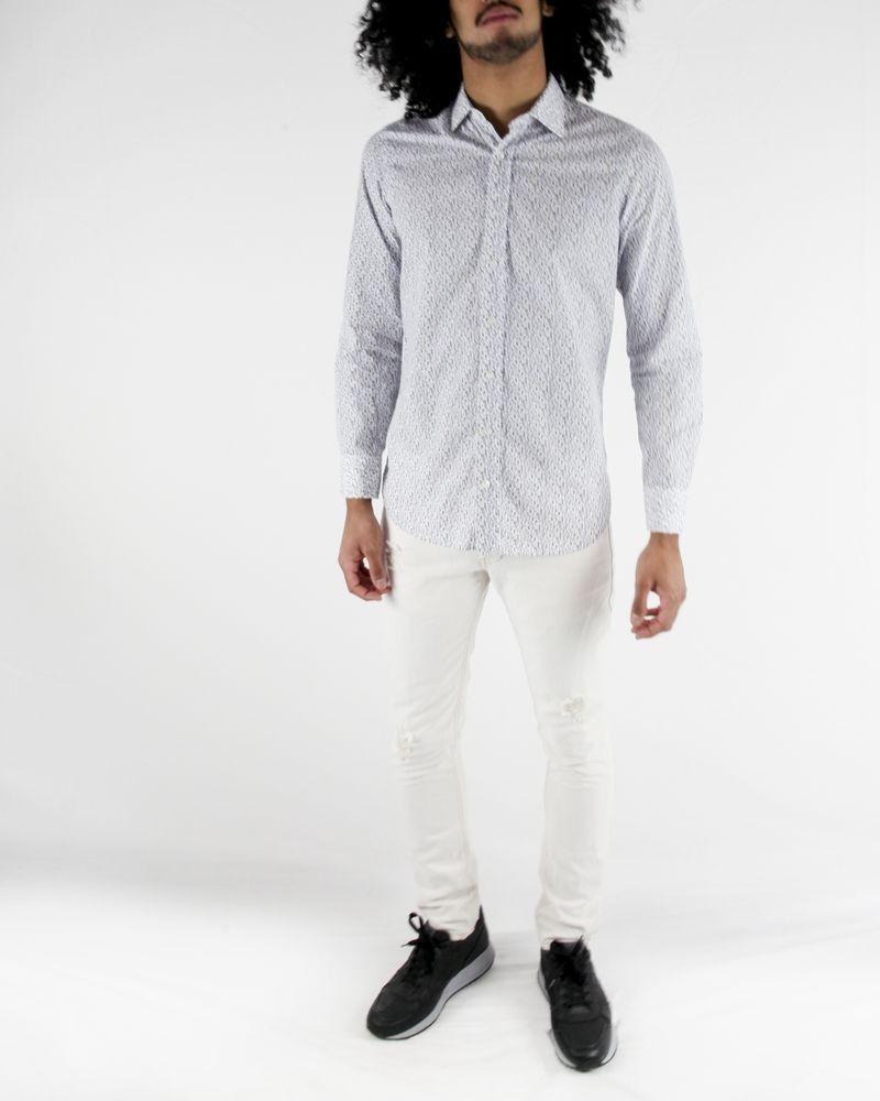 Chemise blanche à motif fantaisies Lardini