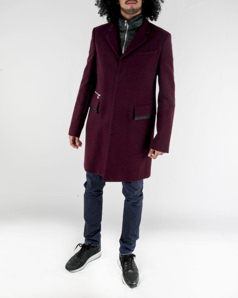 Manteau violet à gilet combiné John Galliano