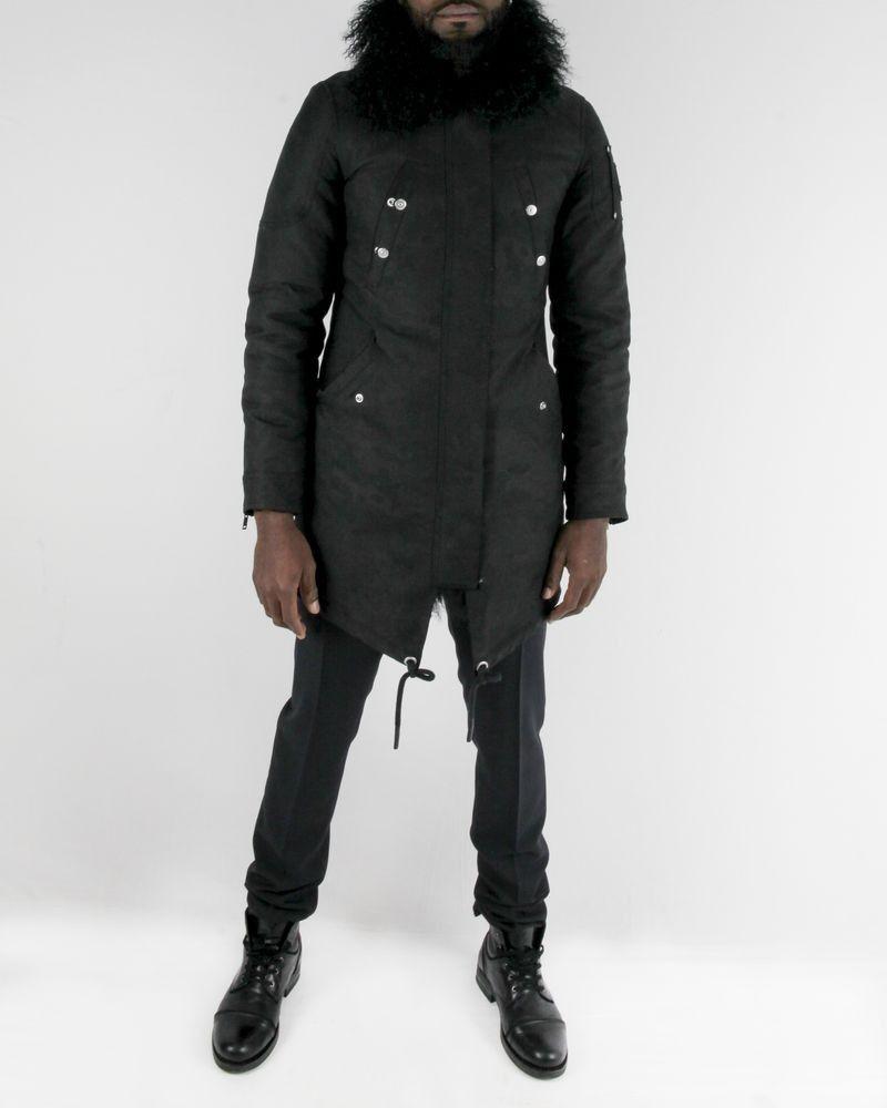 Manteau bi matière noir Moose Knucles