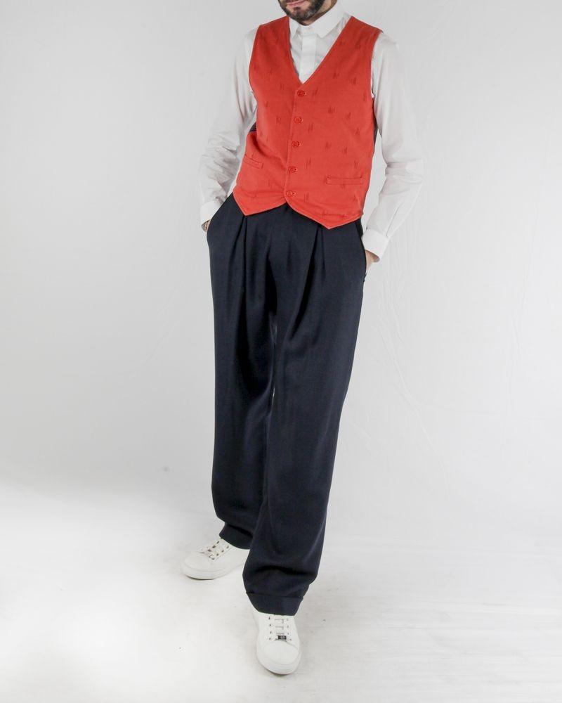Pantalon tailleur en laine abeille bleu Lords & Fools