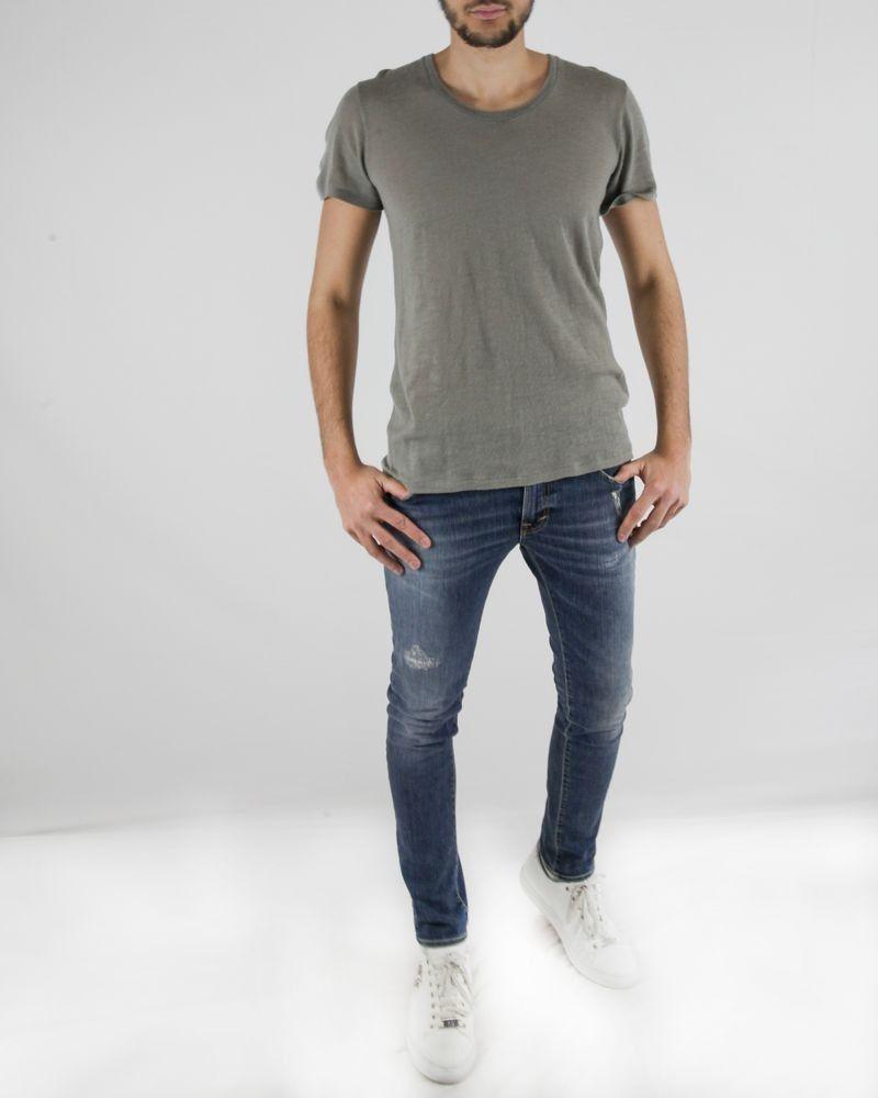 T-shirt over size en laine gris Roberto Cavalli