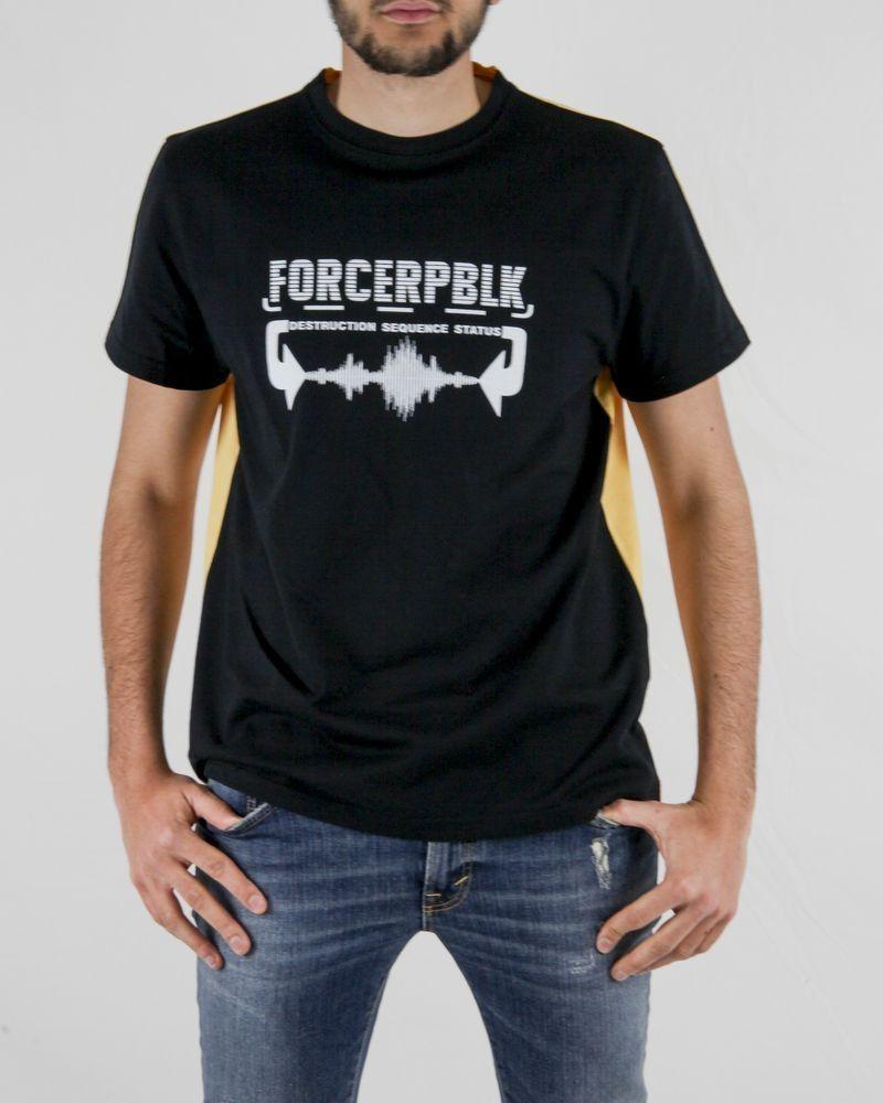 T-Shirt en coton blanc à imprimé fantaisie Force Republik
