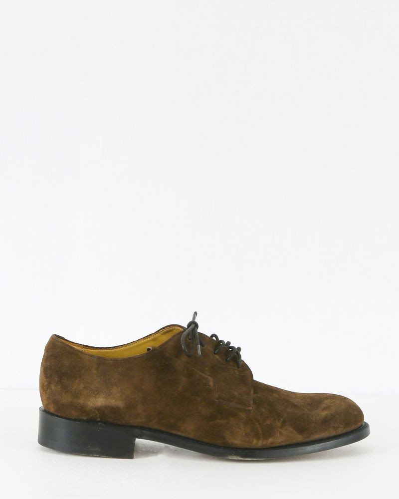 Derbies en daim marron Edition M.R