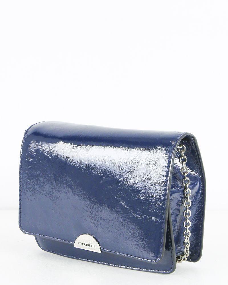 Pochette bleue en cuir Coccinelle