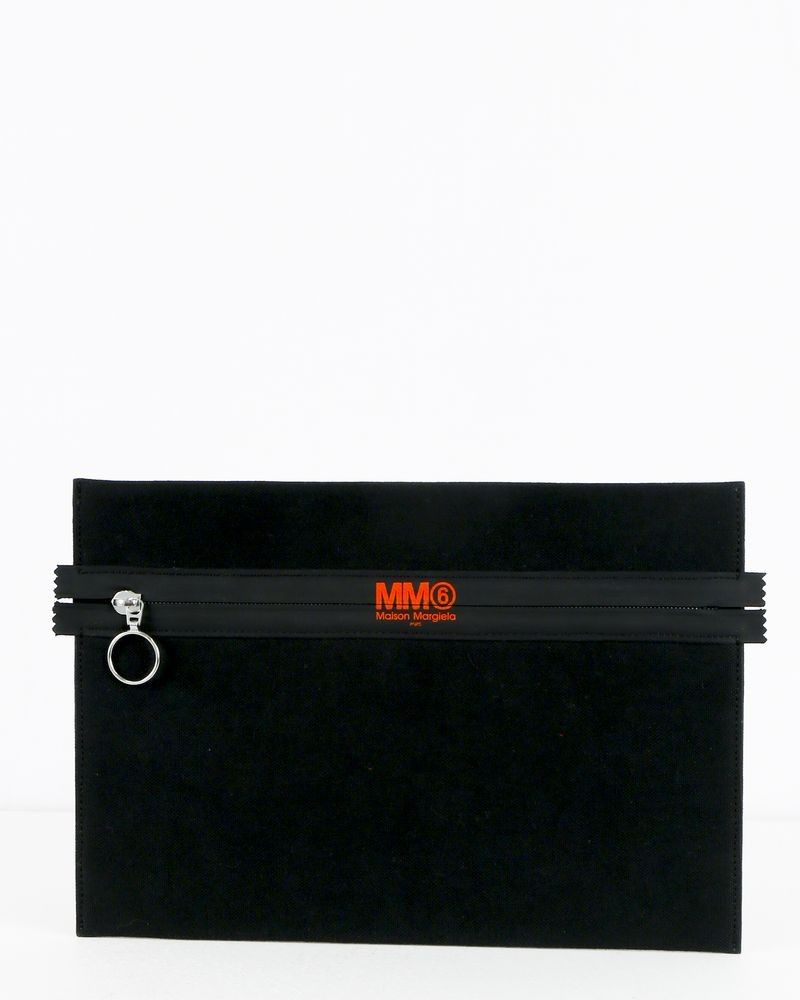 Pochette noire à logo Maison Margiela