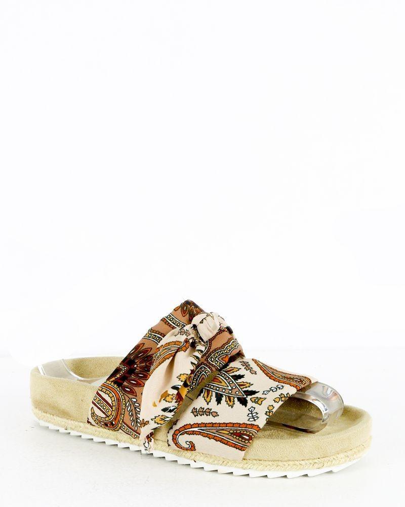 Sandales beige à noeud BSB