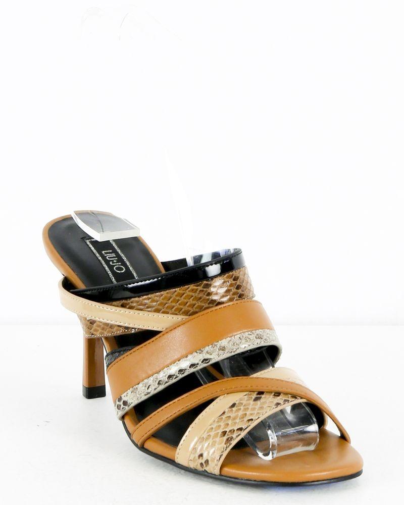 Sandales marron à motifs python Liu Jo
