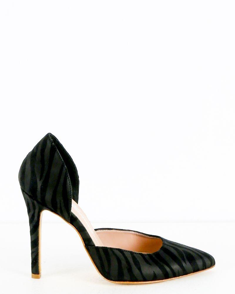 Sandales à talons noir Blumarine
