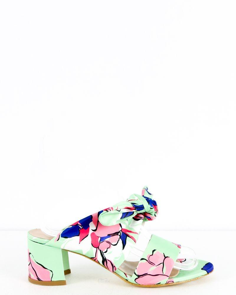 Sandales vert à noeud Blumarine