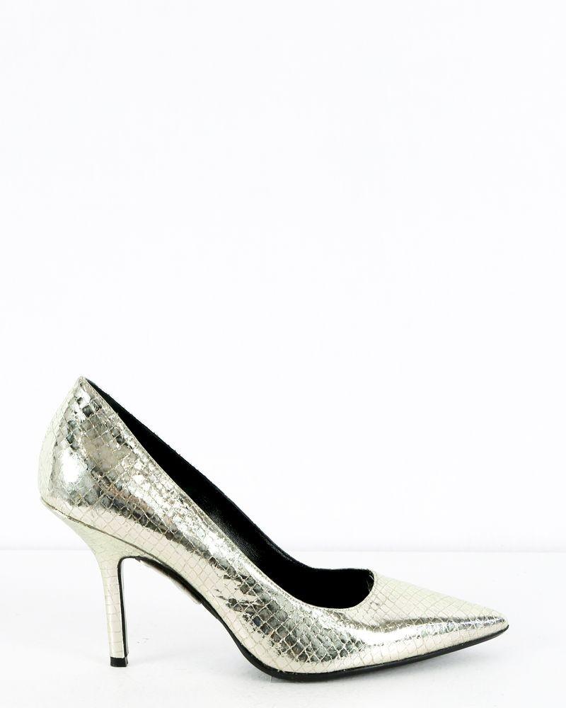 Sandales argenté à motifs Dondup