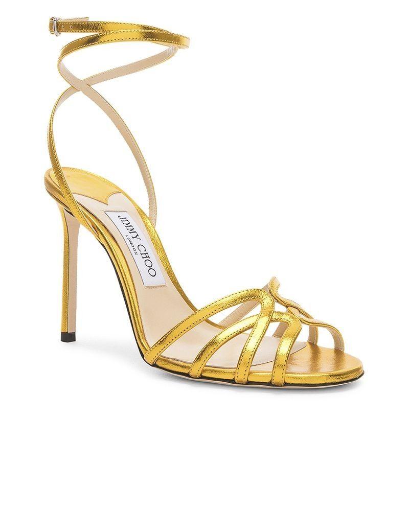 Sandales à talons 10cm dorée Jimmy Choo