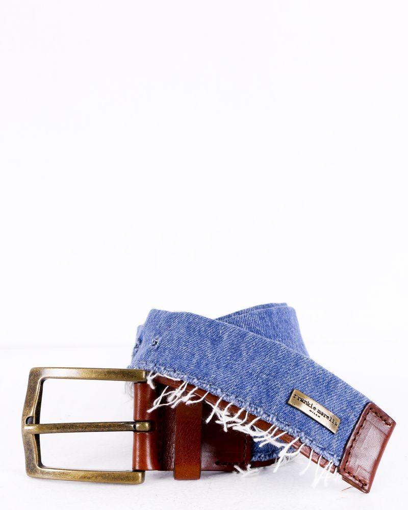 Ceinture bleue motif jean Frankie Morello