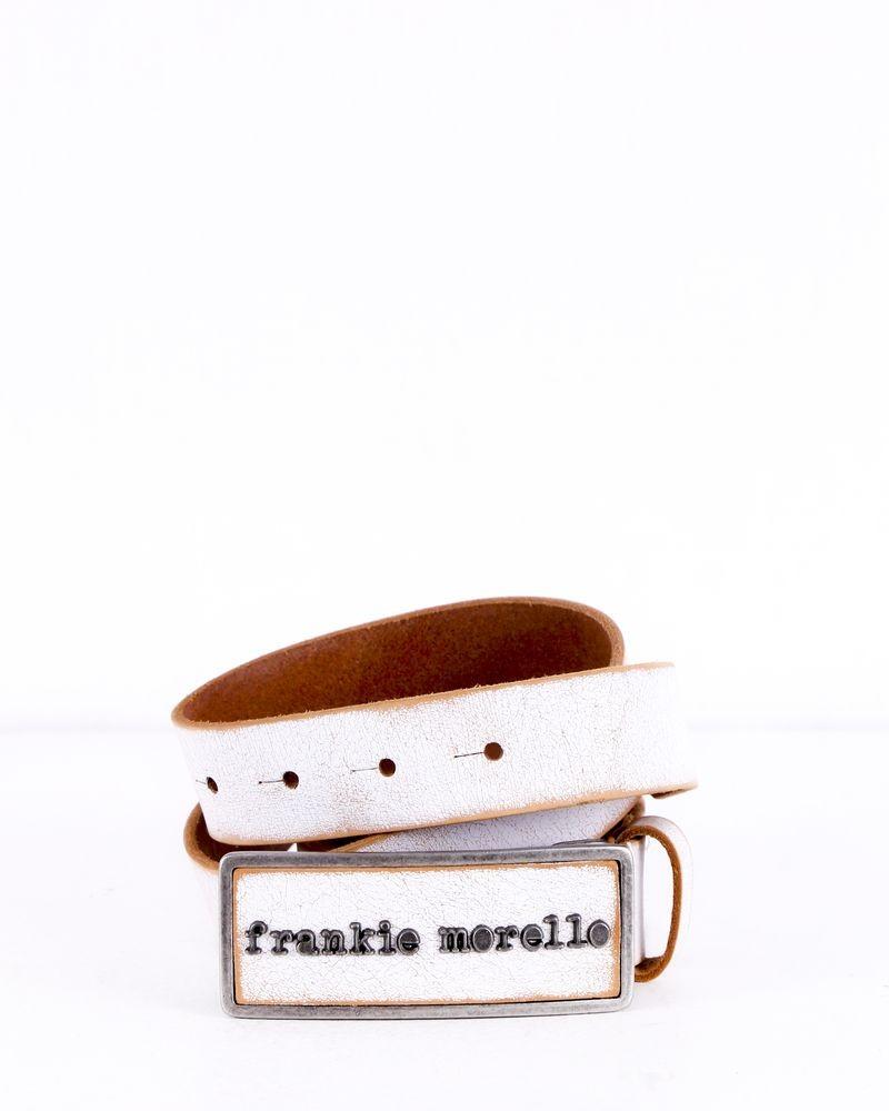 Ceinture blanc cassé Frankie Morello