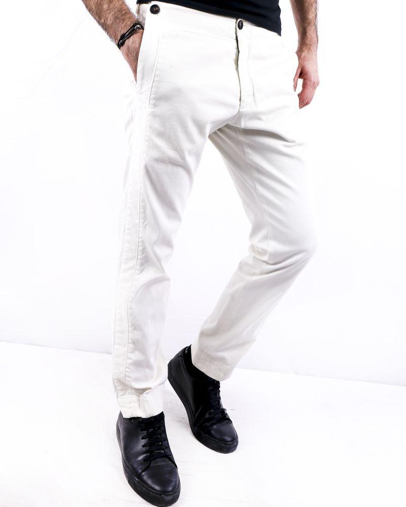 Pantalon blanc à bandes latérales Ly Adams