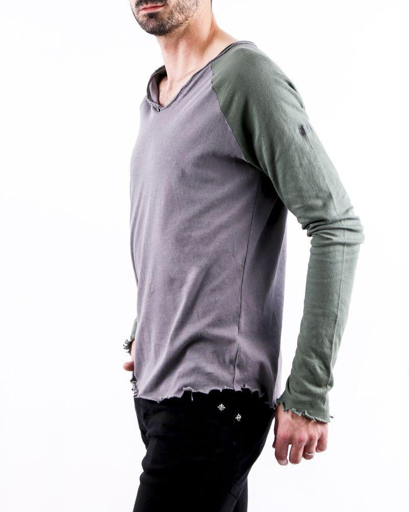 T-Shirt manches longues gris bicolore Zadig & Voltaire