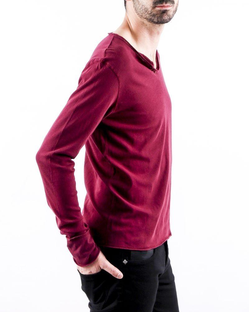 T-Shirt manches longues en coton violet Zadig & Voltaire