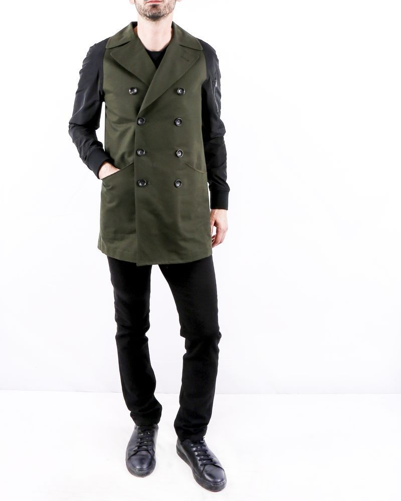 Manteau kaki bicolore Ly Adams