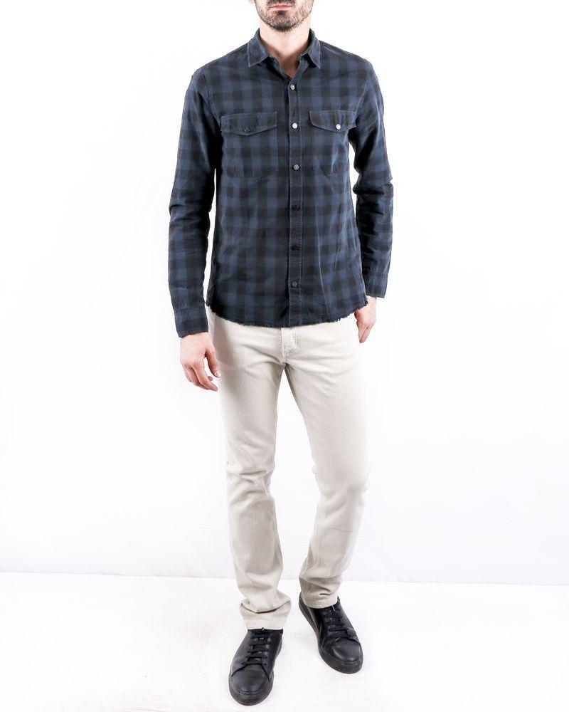 Chemise en coton bleu à carreaux Zadig & Voltaire