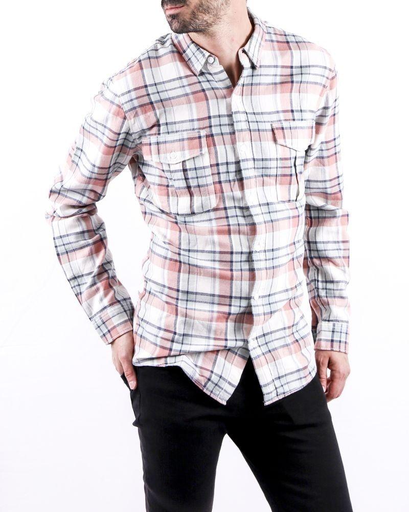 Chemise en coton blanc à carreaux Zadig & Voltaire