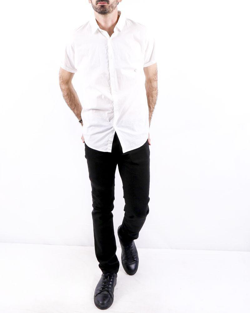 Chemise en coton blanc manches courtes Zadig & Voltaire
