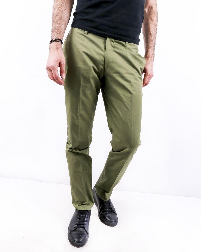 Pantalon en coton kaki Zadig & Voltaire