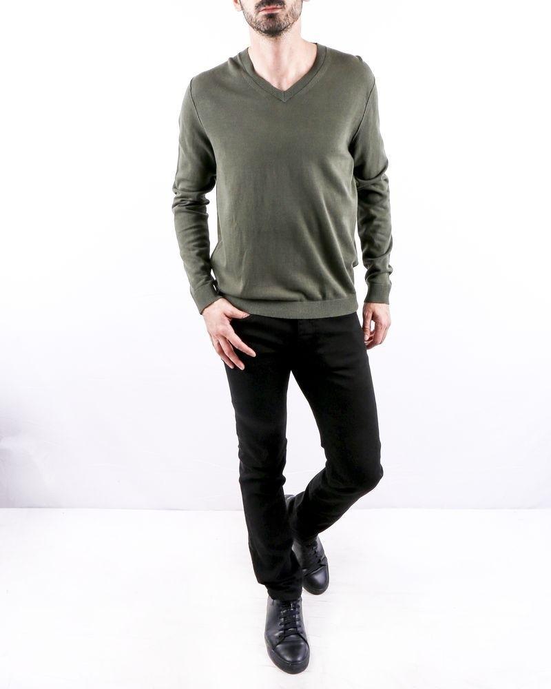 Pull en coton kaki à dos camouflage Zadig & Voltaire