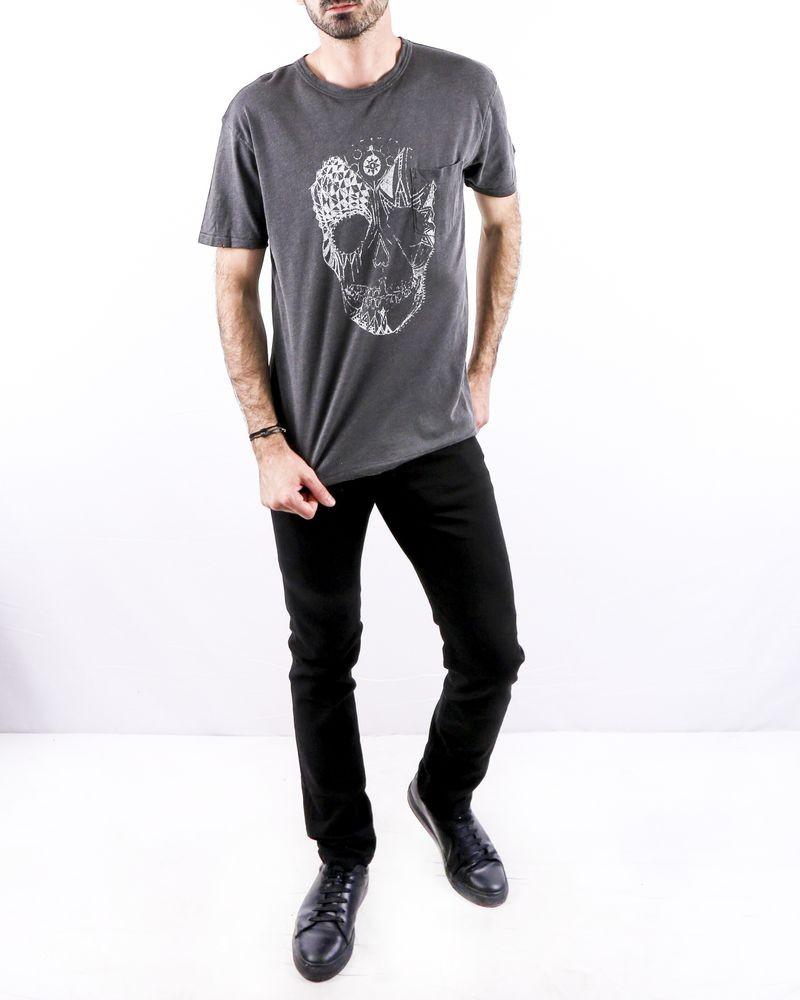 T-Shirt en lin gris à tete de mort Zadig & Voltaire