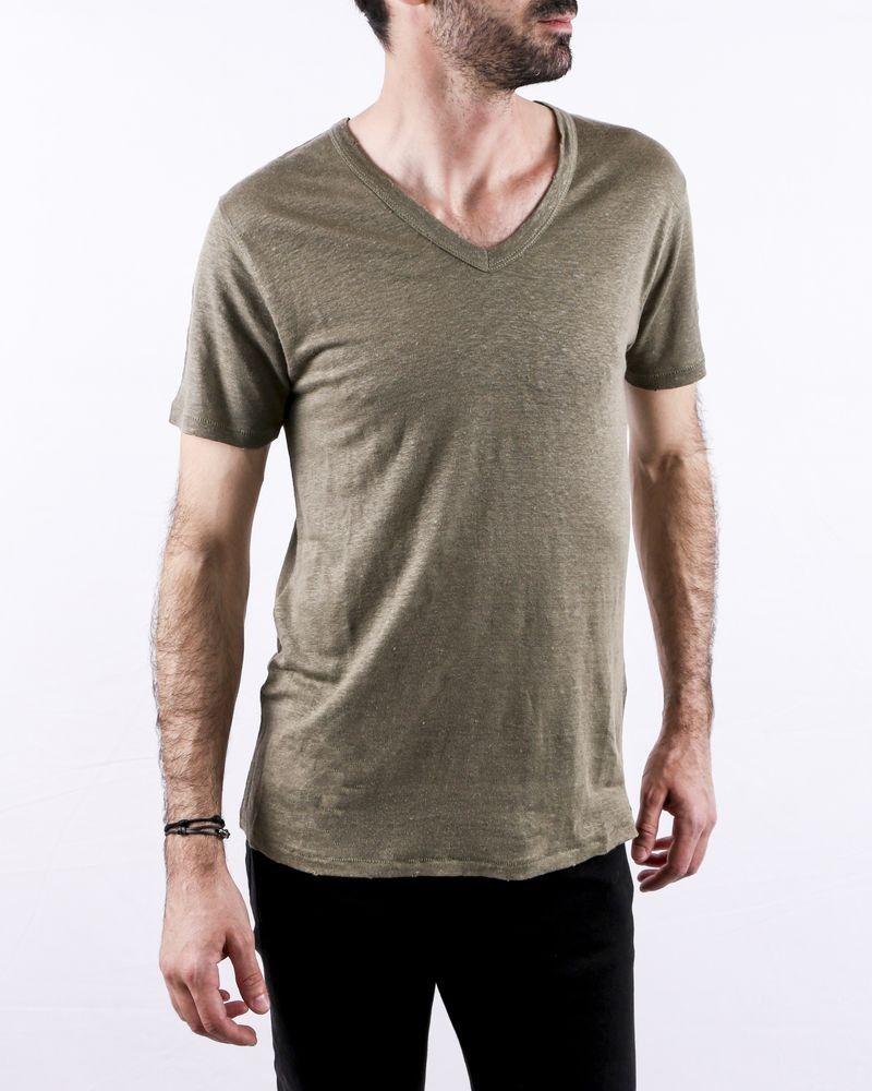 T-Shirt en lin kaki Zadig & Voltaire