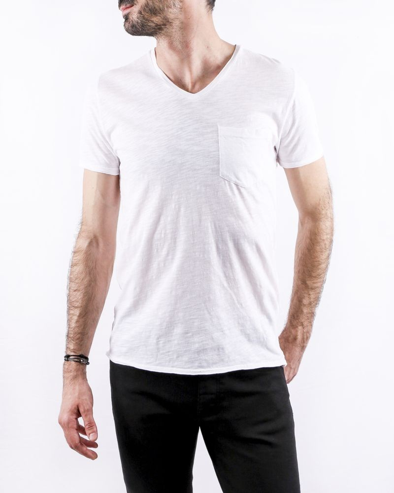 T-Shirt blanc col V Zadig & Voltaire