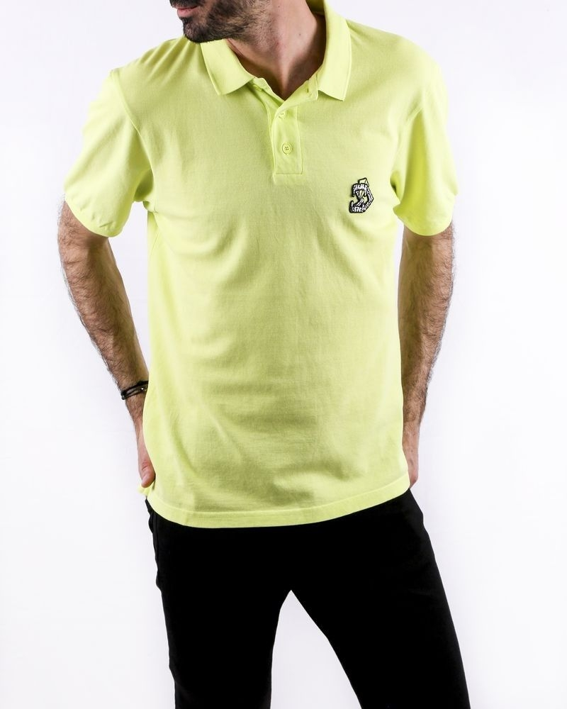 Polo en coton jaune à logo brodé Zadig & Voltaire