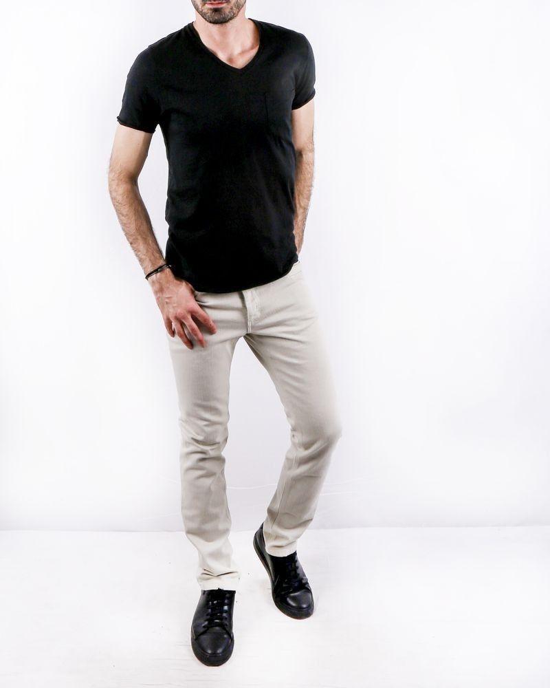 T-Shirt en lin noir à poche poitrine Zadig & Voltaire