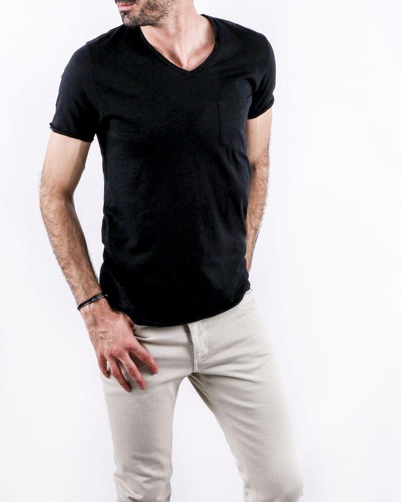 T-Shirt en lin noir Peace Zadig & Voltaire