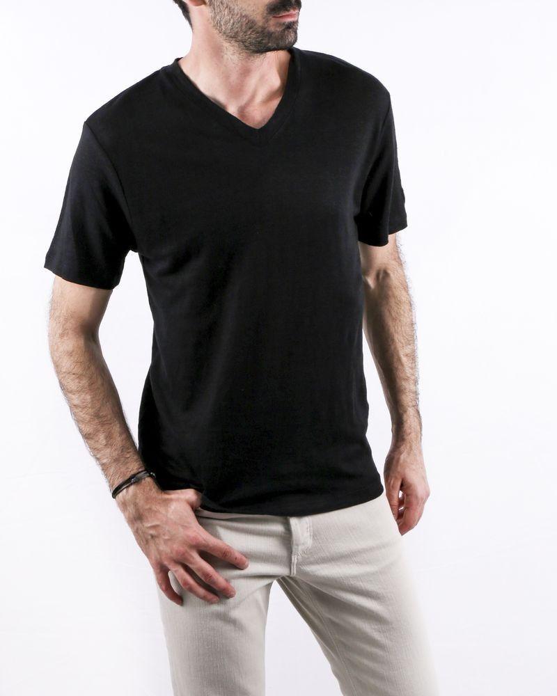 T-Shirt noir col V Zadig & Voltaire