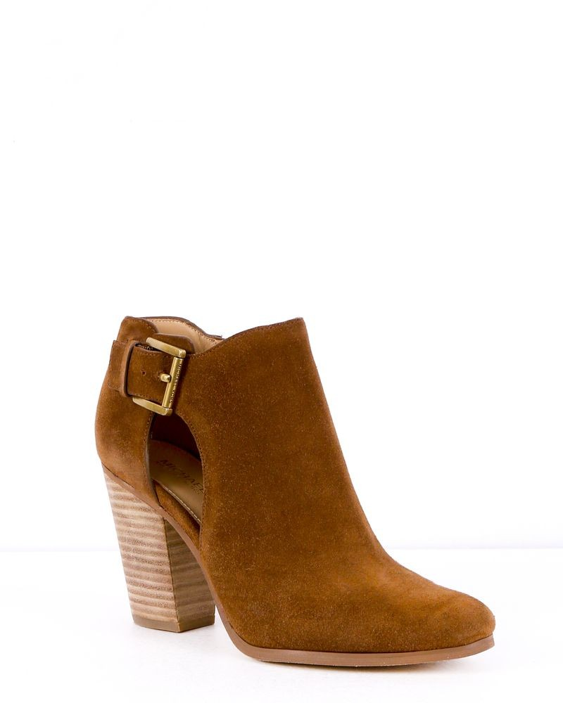 Bottines en cuir marron Michael Kors