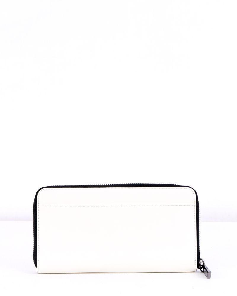 Portefeuille blanc à motifs DKNY
