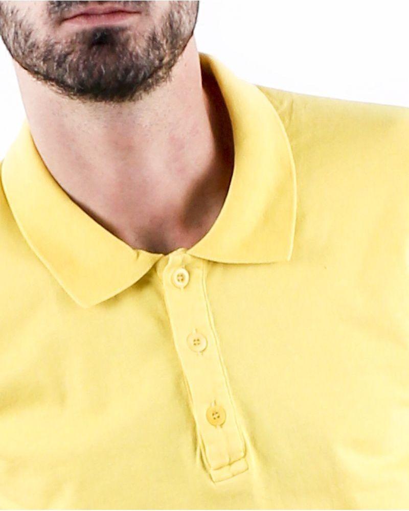 Polo en coton jaune à manches courtes Woolgroup