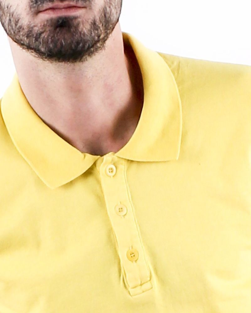 Polo manches courtes jaune Woolgroup